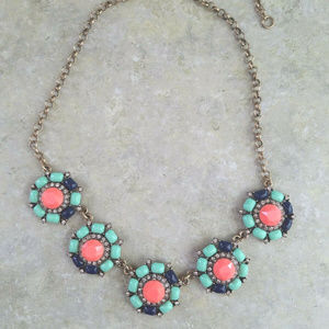 💝JCrew Neon & Rhinestone Necklace!💝